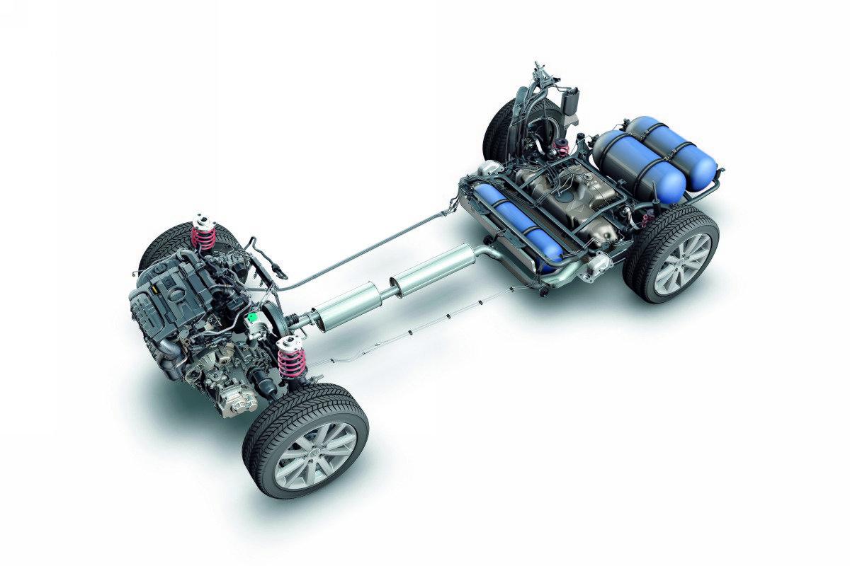 Volkswagen Passat EcoFuel: шасси