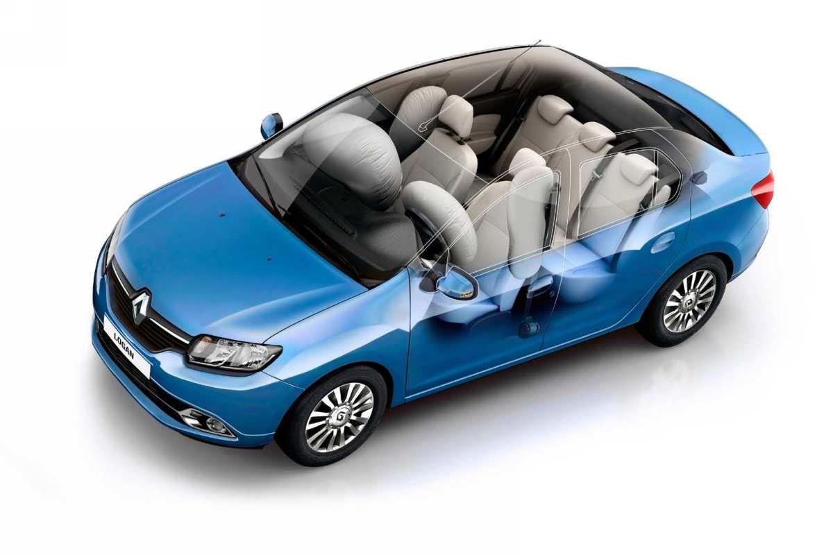 Новый Renault Logan: подушки безопасности