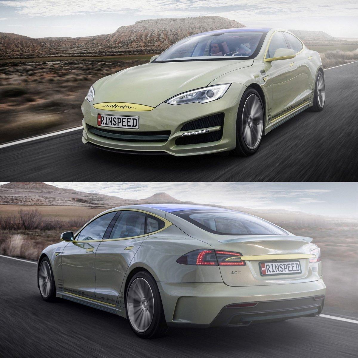 Tesla Model S невероятный концепт кар от Rinspeed
