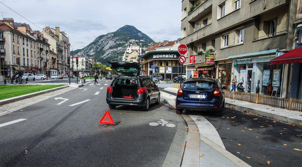 Попал в аварию в европе
