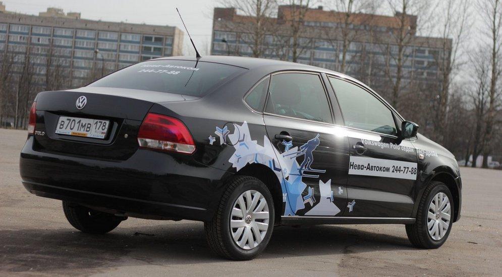 за рулем volkswagen polo sedan solaris динамика