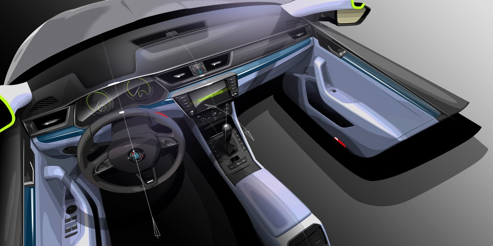 150203 SKODA Superb Interior Design Sketch.jpg