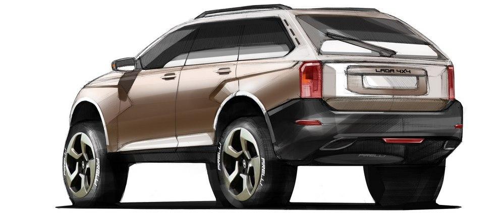 Lada 4x4 New Generation - первые рендеры
