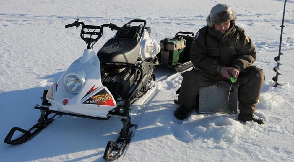 рыбалка на отечественных снегоходах