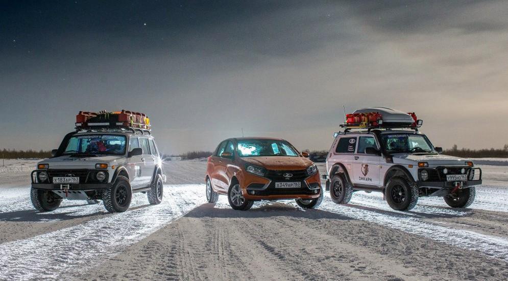 Лада ИксРей в Арктике