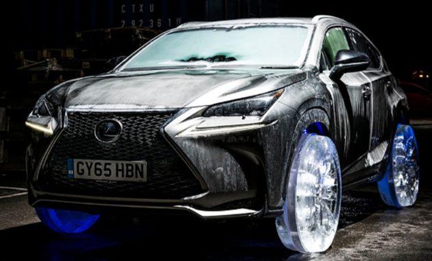Lexus NX получил колёса из льда