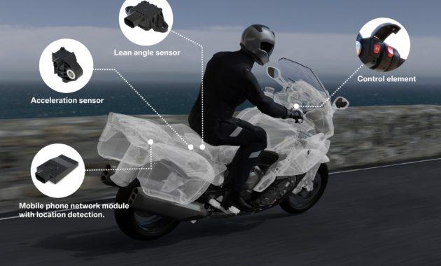 BMW предложила систему экстренного оповещения для мотоциклистов