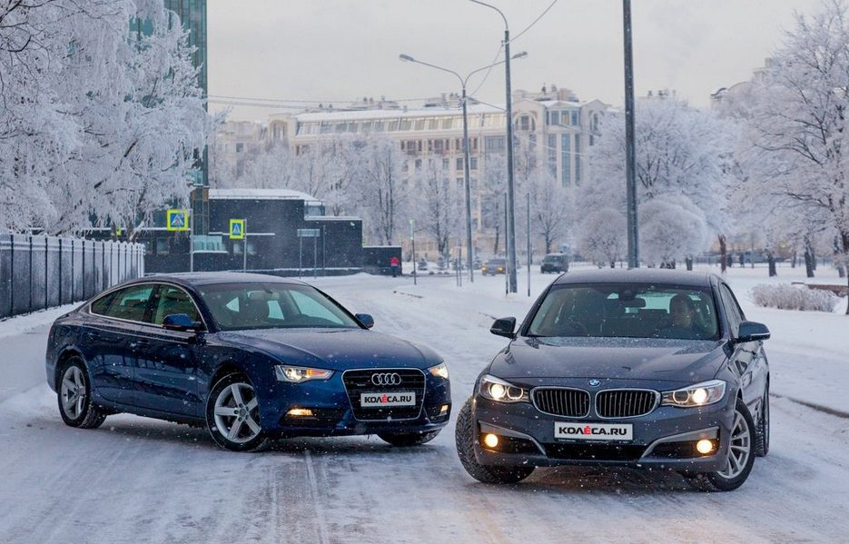 тест драйв Bmw 320d Gt и Audi A5 Sportback 20 Tfsi одинаково