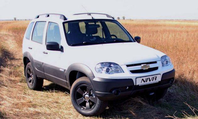 Цвета Chevrolet Niva (Шевроле Нива) на официальном сайте
