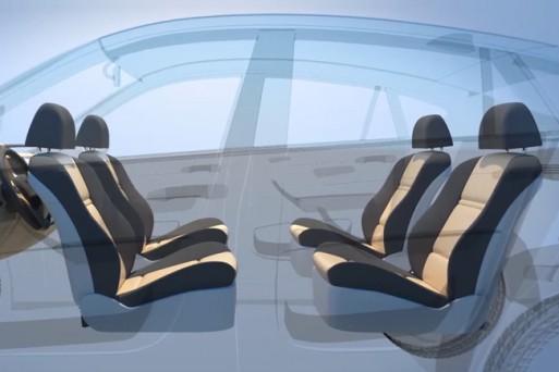 Запатентован интерьер для автопилотируемых машин